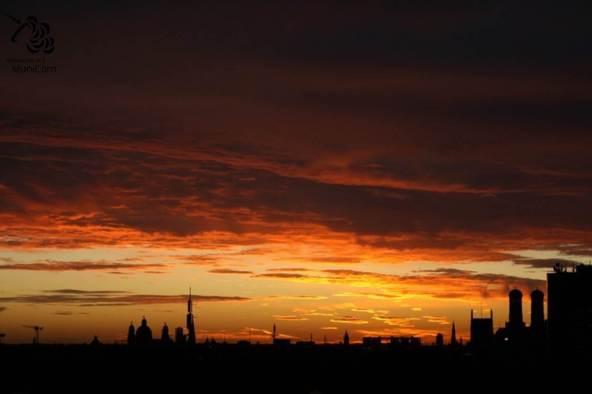 munich sunrise in fall