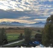 fall sky at chiemsee