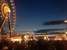 sunset at octoberfest
