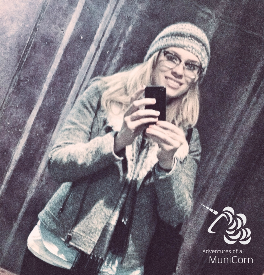 selfie with glasses and winter outfit