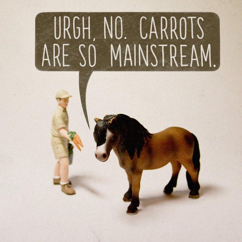 carrots are so mainstream
