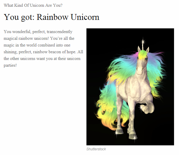 unicorn test result