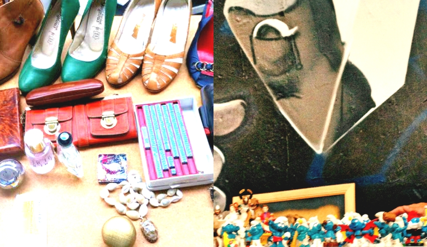 Schuhe und Schlümpfe