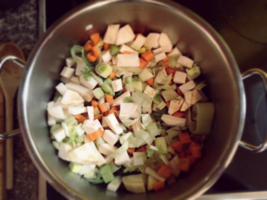 Herbstsuppe vorbereitung