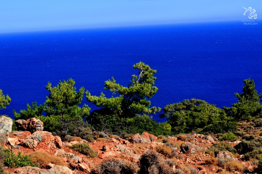 on top of the cliffs crete greece