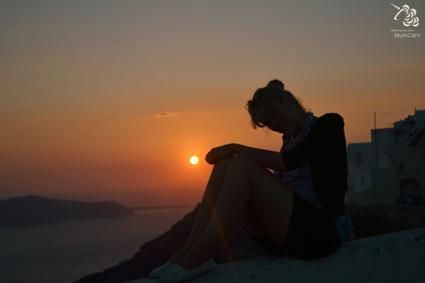 sunset santorini greece