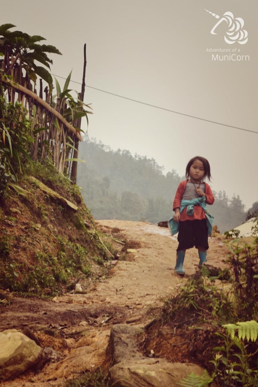 girl in sapa vietnam