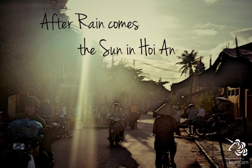 Regen und Sonne in Hoi An