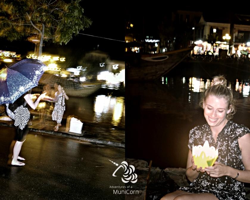 Abends am Flußufer in Hoi An