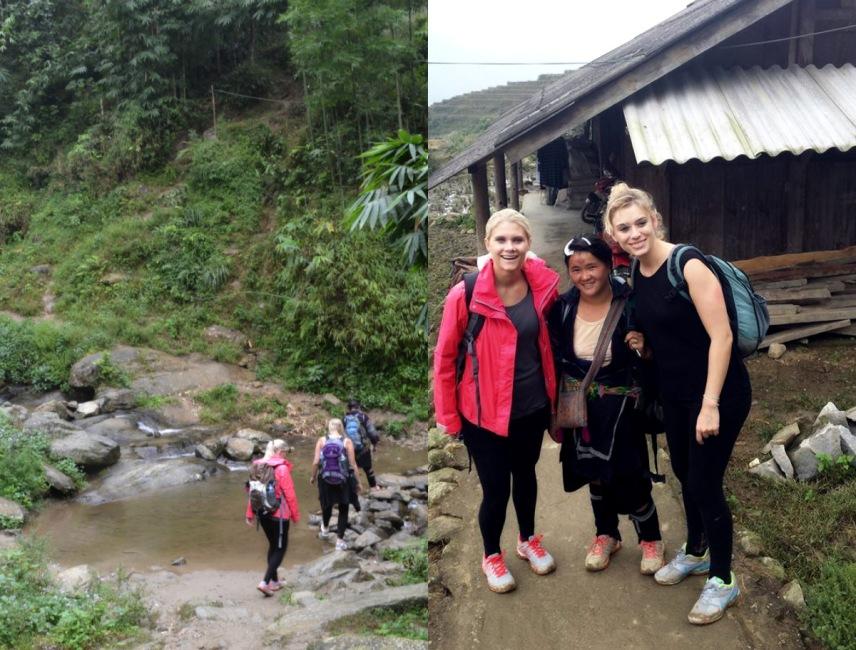 Ziel der Wanderung: Zi's Haus, wo sie mit ihrer Familie lebt