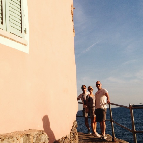 With Friends in Tellaro, Ligury at the Sea