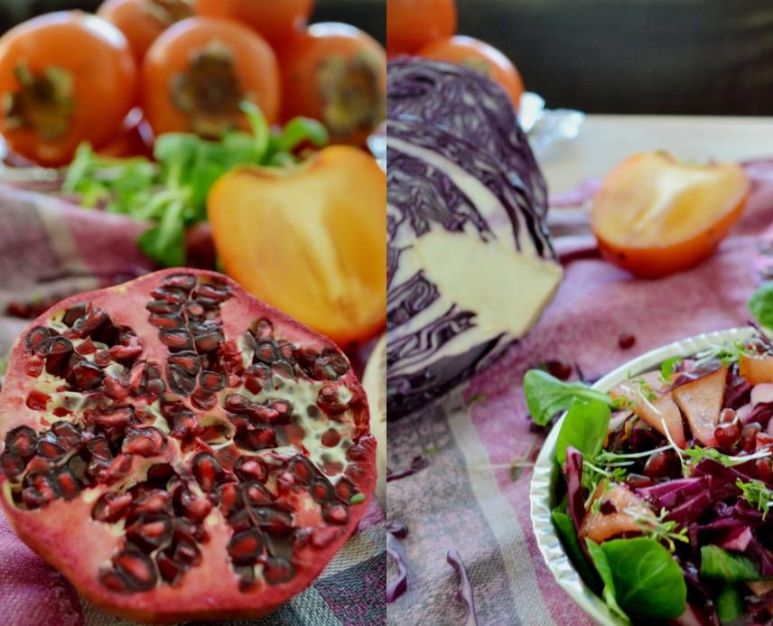 weihnachtlicher Salat vegan