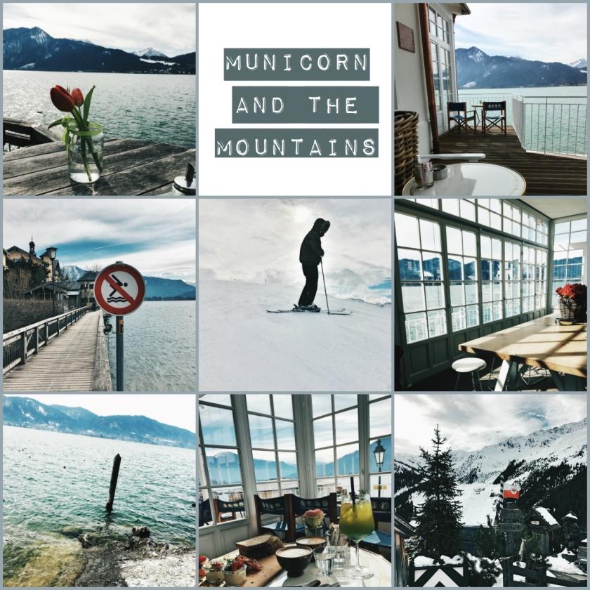 municorn and the mountains