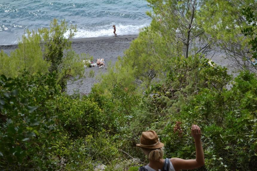 naturstrand spiaggia di punta corvo nähe cinque terre