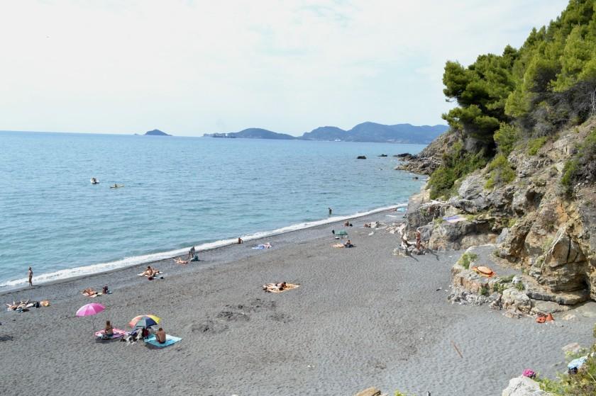 spiaggia du punta corvo, ligurien