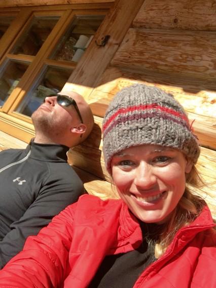 nach der Abfahrt auf der Hütte