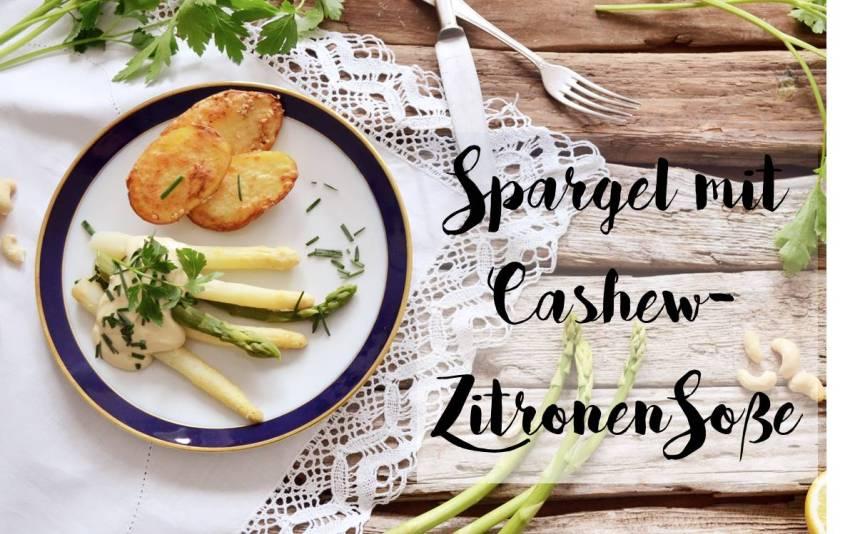 Spargel mit cremiger Cashew-Zitronen-Soße