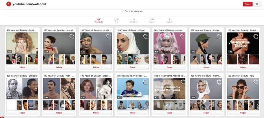 100 years of beauty pinterest