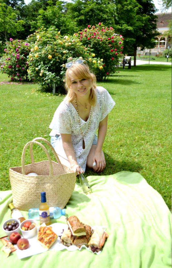 Picknick im Juni Rosentage