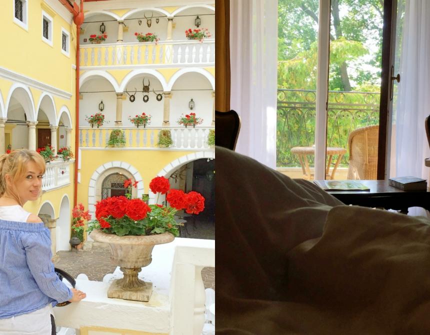 Schlosshotel Weikersdorf Zimmer und Innenhofe Baden bei Wien