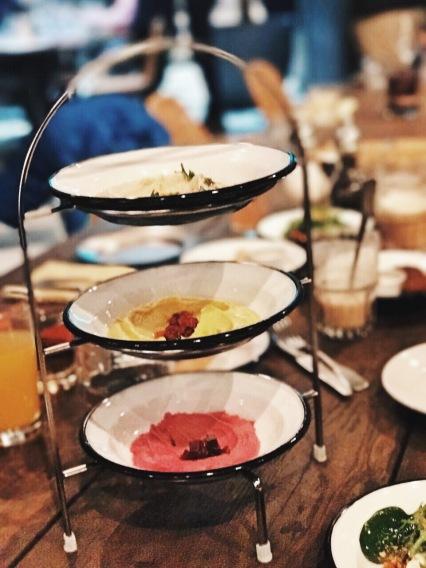 Hummus varianten vegan friendly restaurant Munich