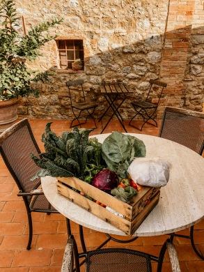 Agrivilla i pini vegane unterkunft toskana frisches Obst und Gemüse